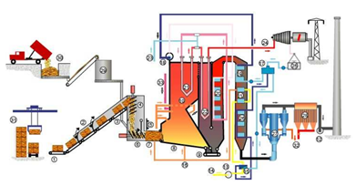 Schematic of Direct Combustion Process