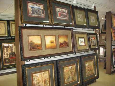 Framed Art Show Room
